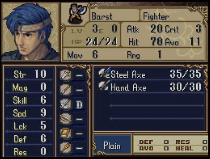 Fire Emblem Shadow Dragon Barst