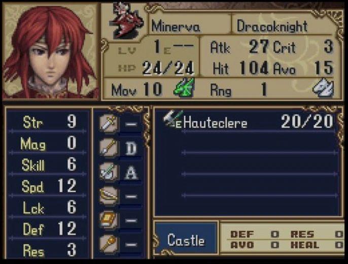 Fire Emblem Shadow Dragon Minerva