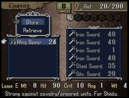 Fire Emblem Shadow Dragon Wing Spear