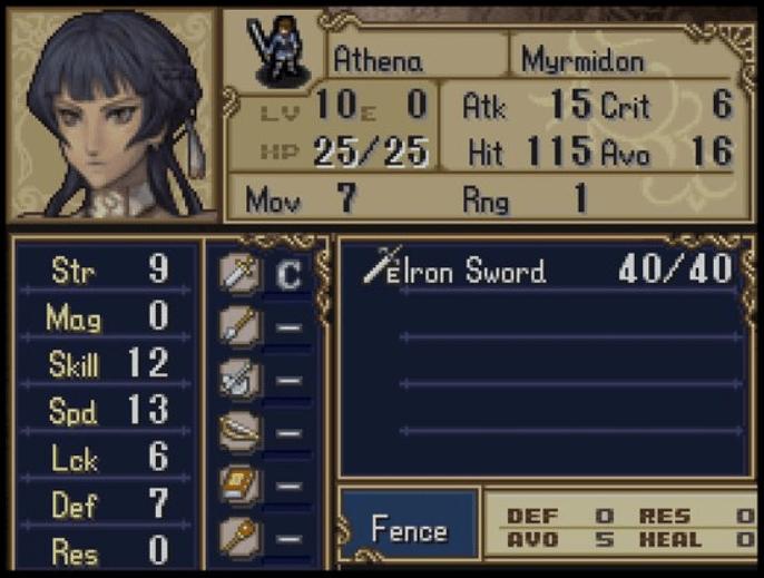 Athena Fire Emblem Shadow Dragon