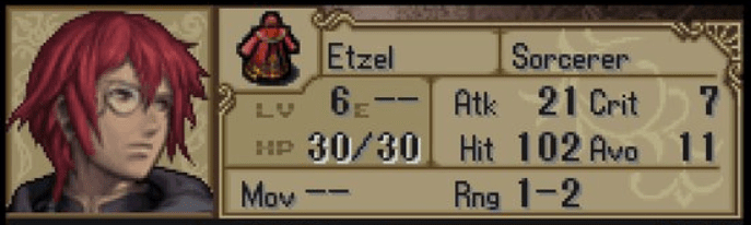 Fire Emblem: Shadow Dragon Character, Etzel