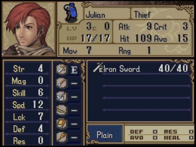 Julian Fire Emblem Shadow Dragon