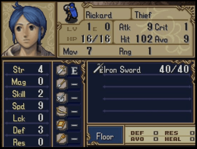 Rickard Fire Emblem Shadow Dragon