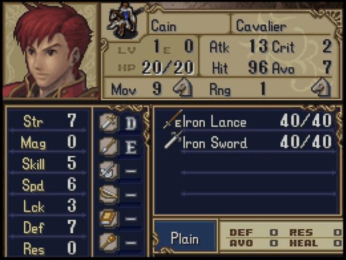Fire Emblem Cain