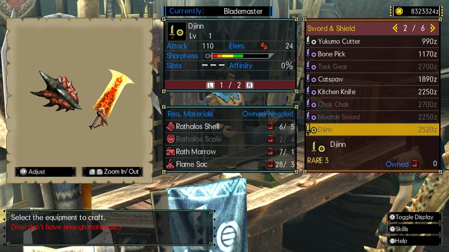 MHGU Sword and Shield Djinn