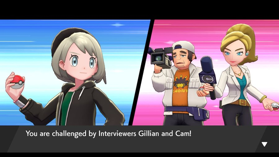 Pokemon Sword and Shield Interviewers Gillian and Cam