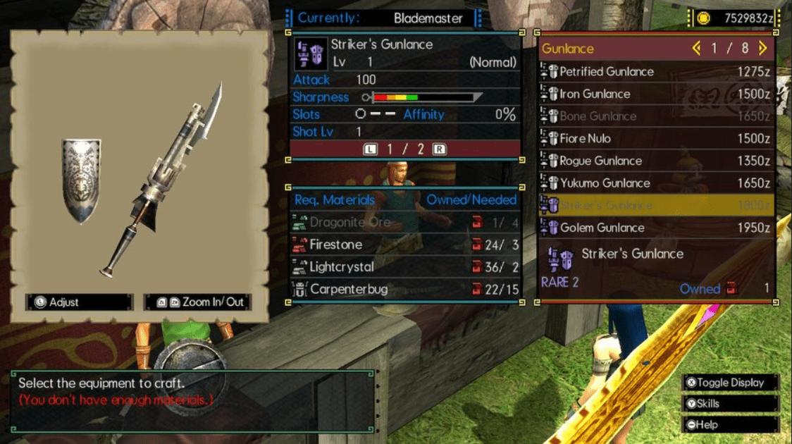 MHGU Striker's Gunlance