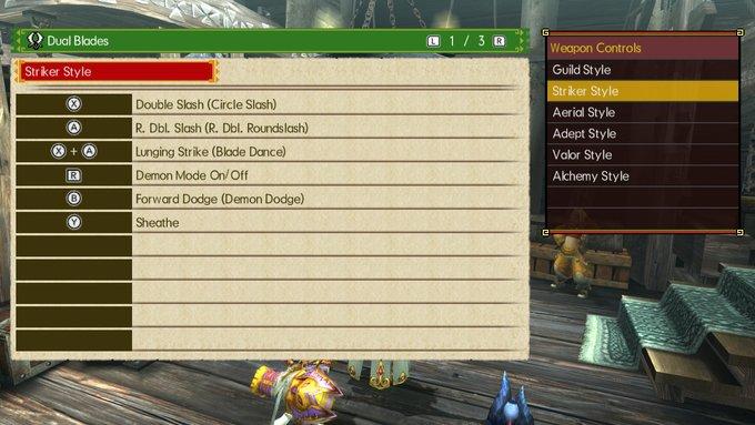 Dual Blades Striker Style MHGU