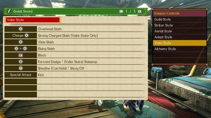 MHGU Great Sword Valor Style