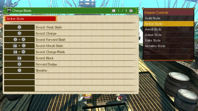 MHGU Striker Style Charge Blade