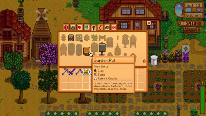 Stardew Valley Crafting With Clay
