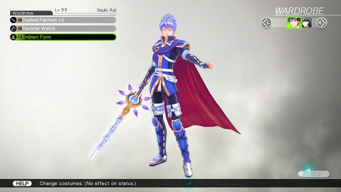 Itsuki's Costume, Emblem Form, in Tokyo Mirage Sessions #FE Encore