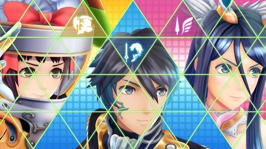 Mamori, Itsuki and Tsubasa Battle Introduction Screen