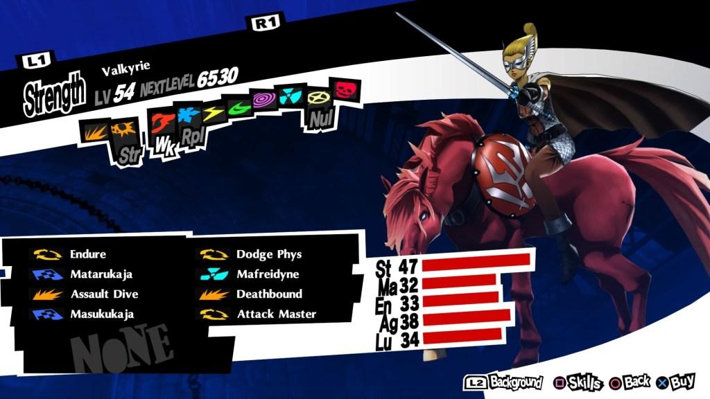 Persona 5 Royal, Valkyrie Persona