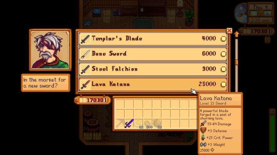 Stardew Valley Weapon Vendor