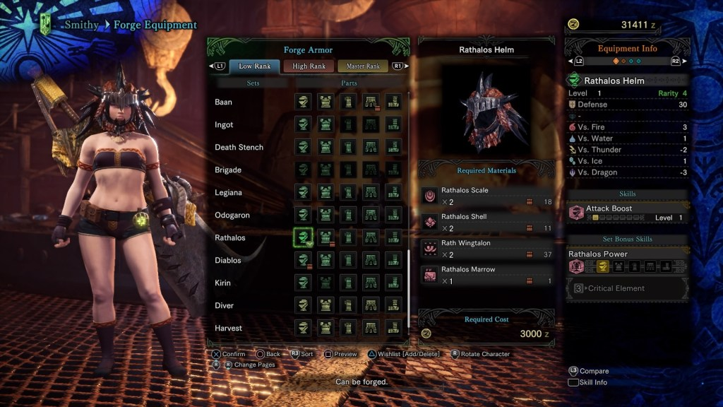 Monster Hunter World, Early Armor, Rathalos Helm