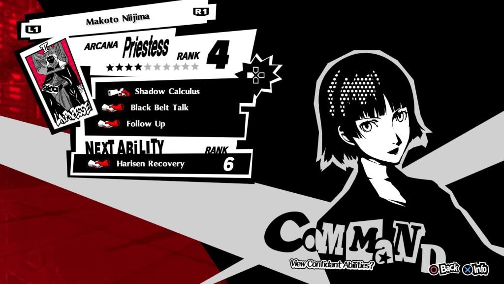 Persona 5 Royal Confidant, Makoto Niijima