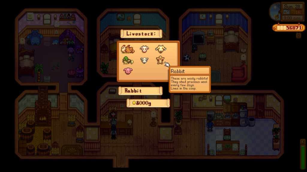 Stardew Valley, Purchasing Animals