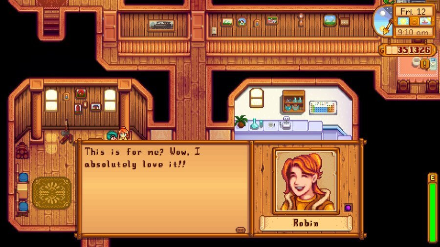 Stardew Valley Gifting Robin