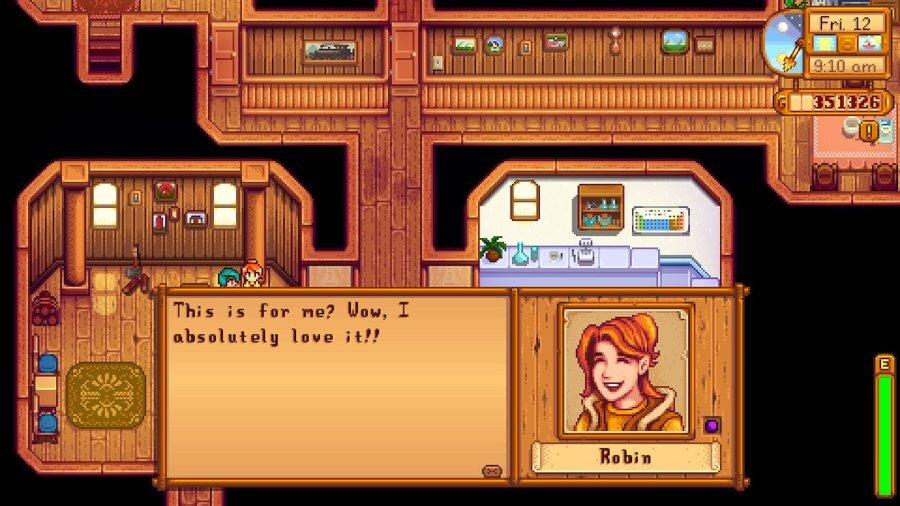 Stardew Valley Gifting Robin