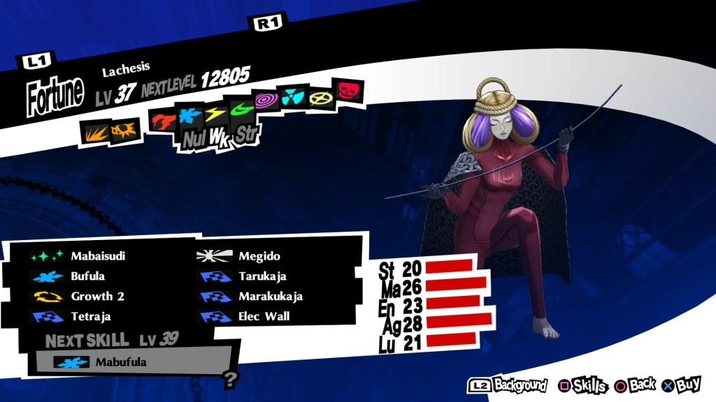 Persona 5 Royal, Lachesis Persona