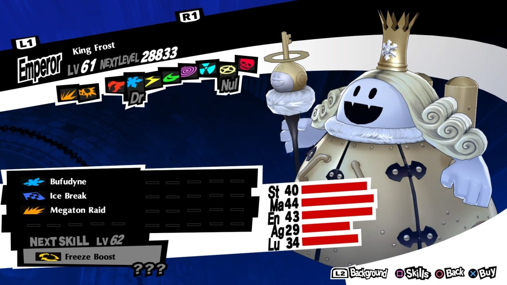 Persona 5 Royal, King Frost Persona