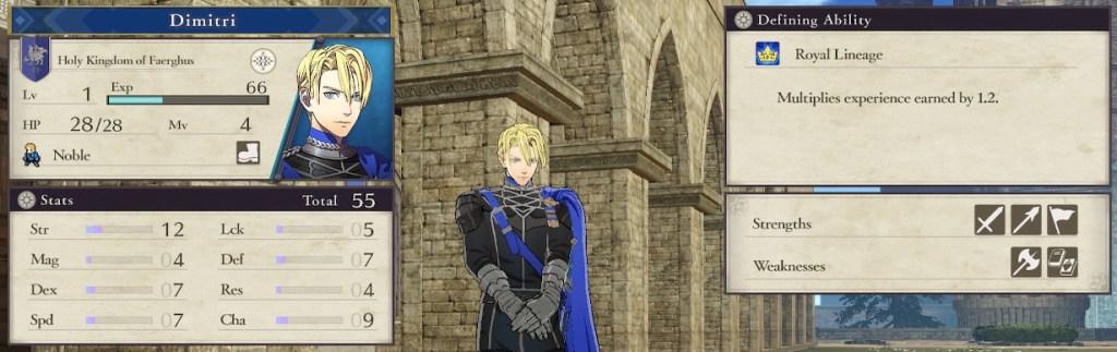 Fire Emblem Three Houses, Blue Lions Student Dimitri