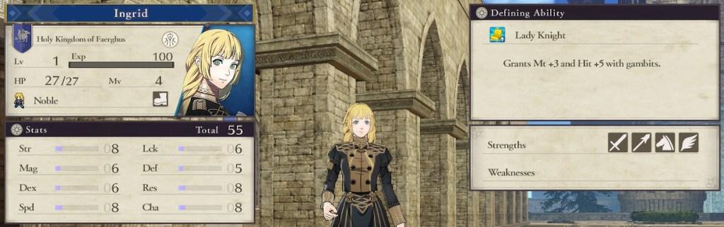 Fire Emblem Three Houses Character, Blue Lions Student Ingrid