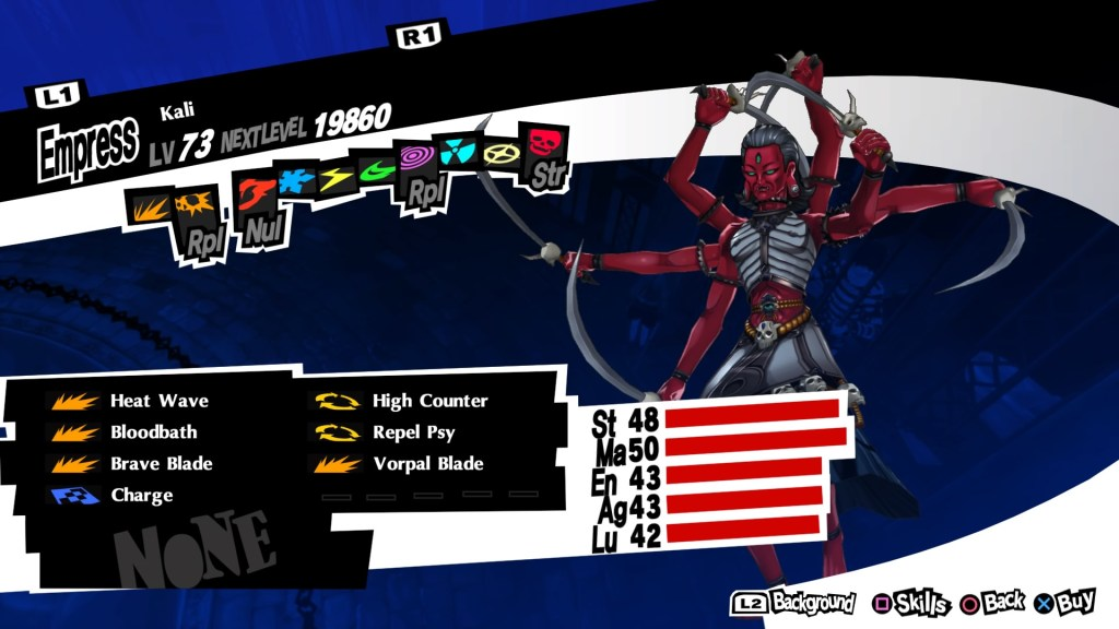 Persona 5 Royal, Kali Persona