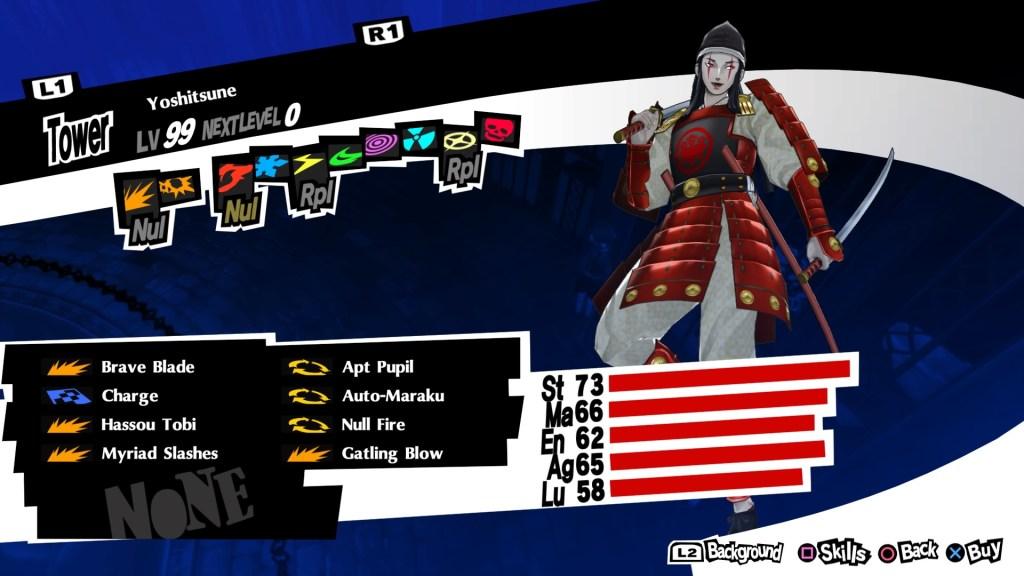 Persona 5 Royal, Yoshitsune Persona
