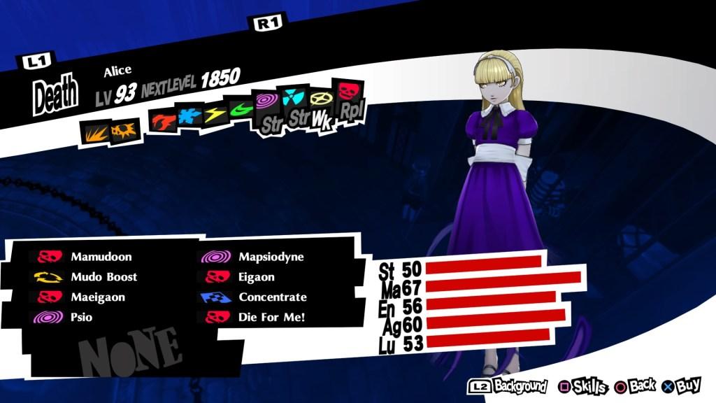 Persona 5 Royal, Curse Persona, Alice