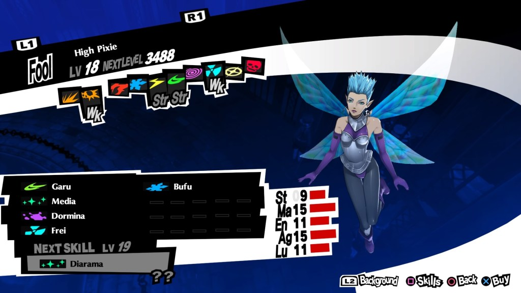Persona 5 Royal, Wind Persona, High Pixie