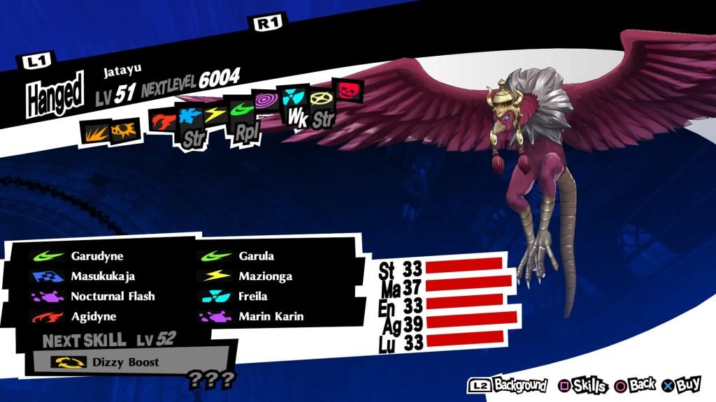 Persona 5 Royal, Wind Persona, Jatayu