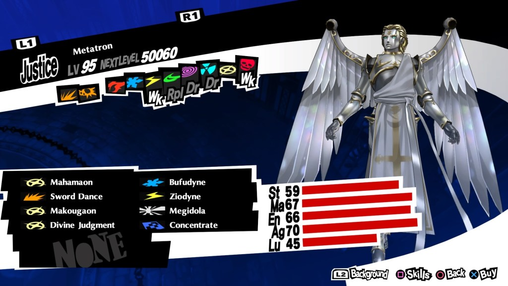Persona 5 Royal, Bless Persona, Metatron