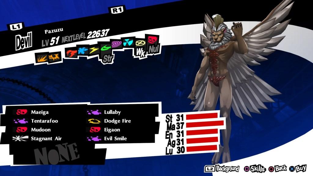 Persona 5 Royal, Curse Persona, Pazuzu
