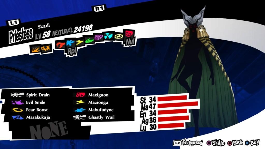 Persona 5 Royal, Skadi Persona