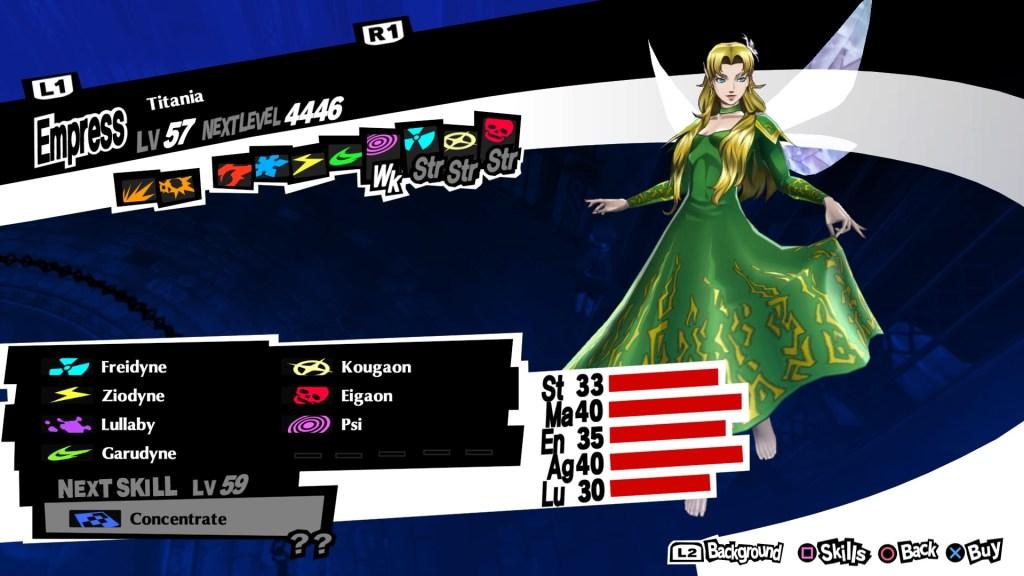 Persona 5 Royal, Titania Persona