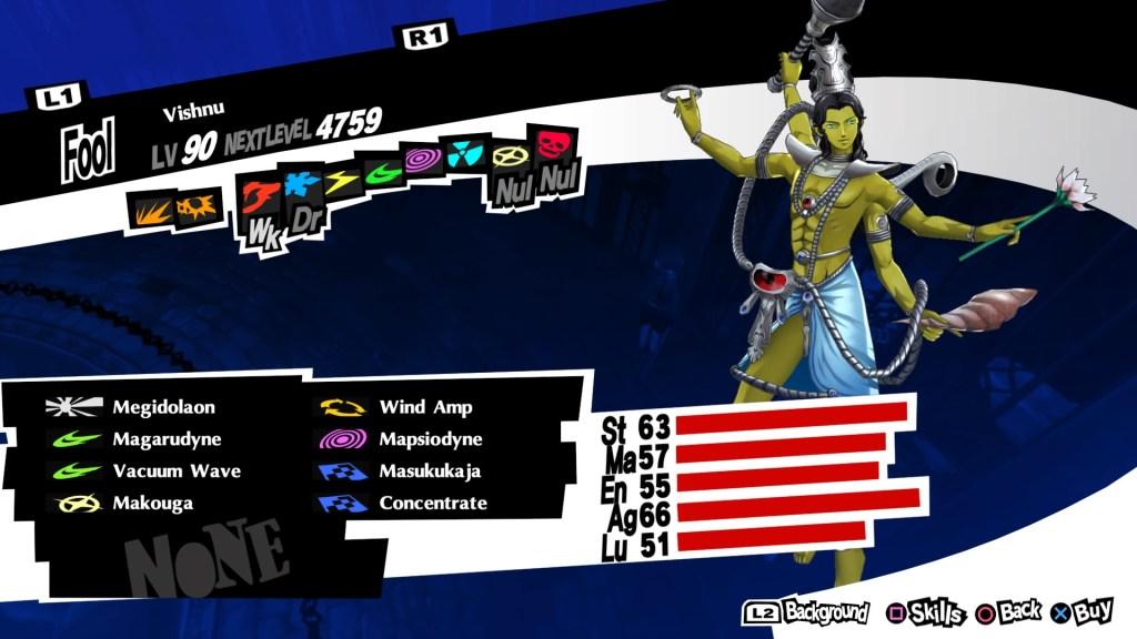 Persona 5 Royal, Wind Persona, Vishnu