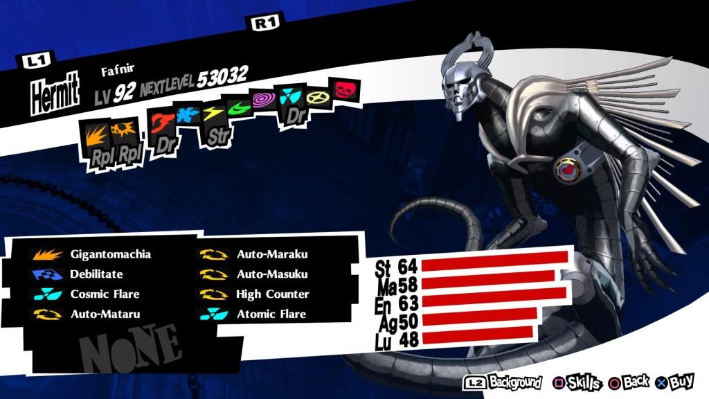 Nuke Persona Fafnir, Persona 5 Royal