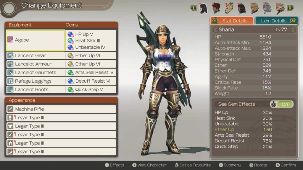 Healing Sharla Build, Xenoblade Chronicles Definitive Edition