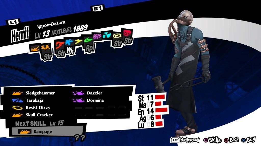 Defensive Persona Ippon-Datara, Persona 5 Royal