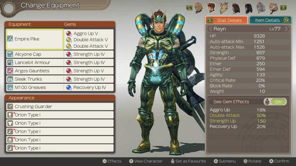 Reyn Build, Super Damage, Xenoblade Chronicles