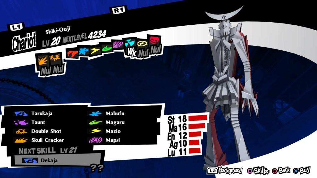Defensive Persona Shiki-Ouji, Persona 5 Royal