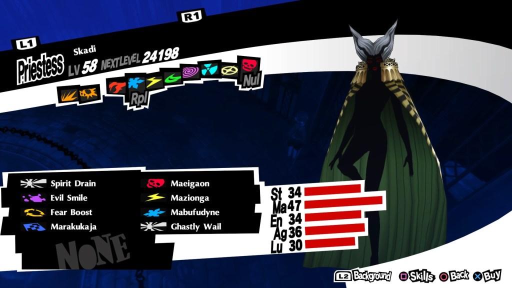 Almighty Persona Skadi, Persona 5 Royal