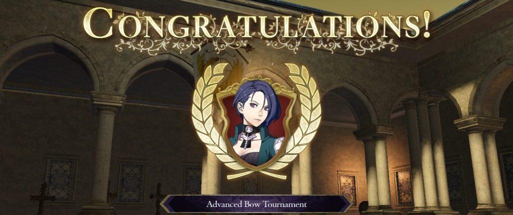 Tournament Victory Screen, Fire Emblem: Three Houses