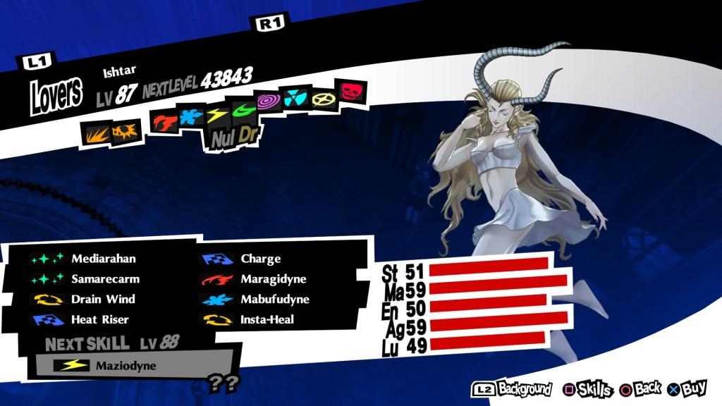 Healing Persona Ishtar, Persona 5 Royal