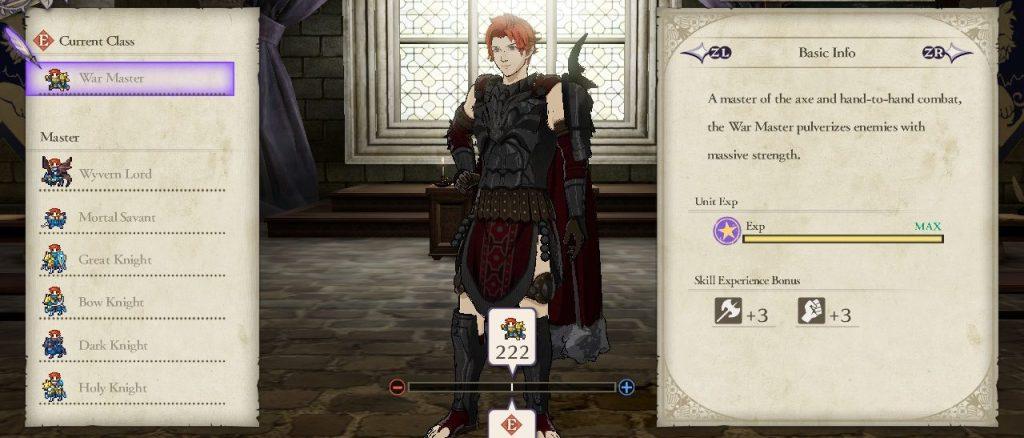 War Master Class, Fire Emblem: Three Houses