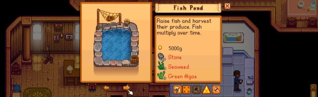 Purchasing Fish Pond, Stardew Valley